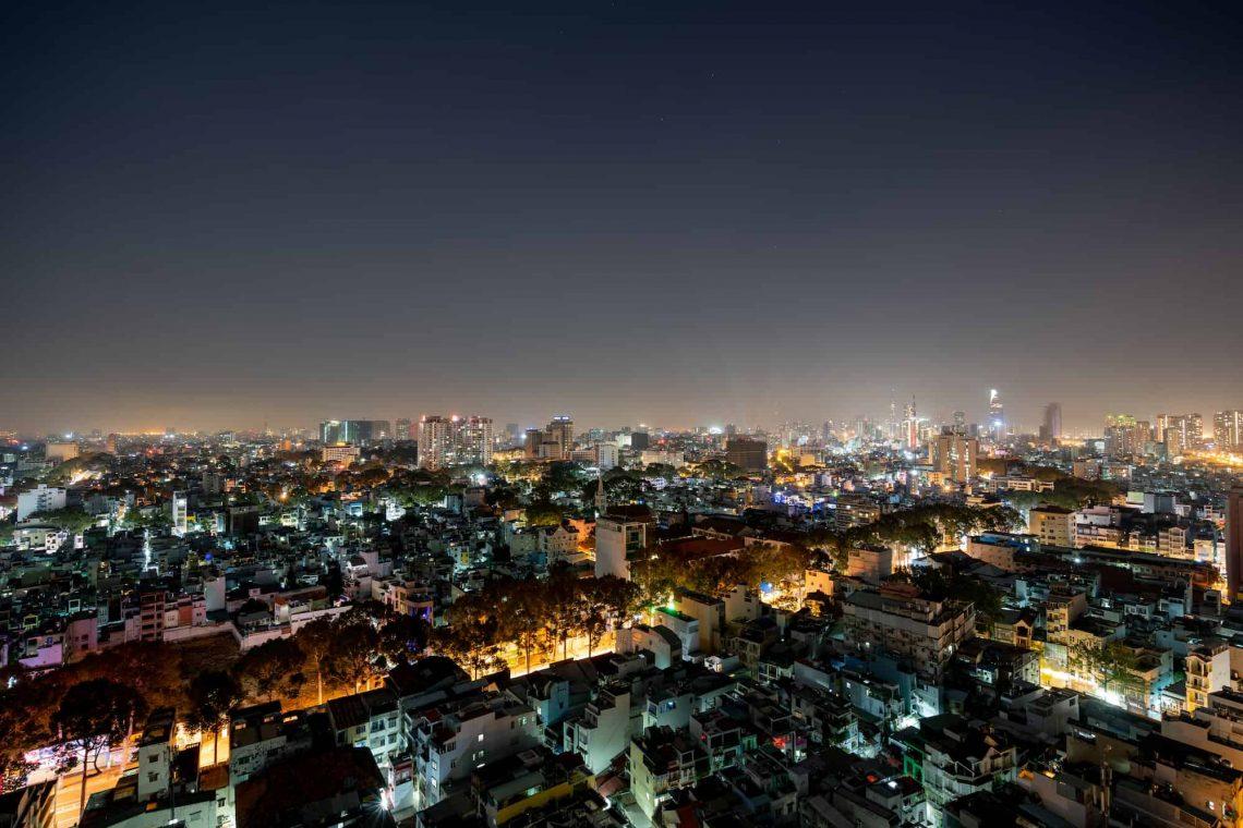 pollution lumineuse en ville